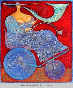 artist Wlad Safronow, Ukranian artist, born 1965 in Kharkov, Ukraine.