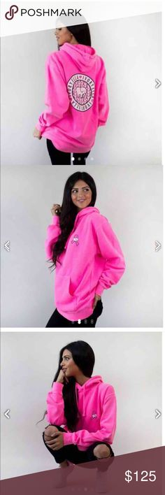 RARE HTF IVORY ELLA NEON breast cancer hoodie (S) completely SOLD OUT- this hoodie sold out in one day!  very limited edition Ivory Ella breast cancer awareness hoodie size small oversized fit.    Brand new   Price is FIRM!  NO TRADES.      ONLY  poshers please any negativity will not be responded to I will simply block you and move on    Ships within a day from my smoke free home   Tags  Vineyard vines  Breast cancer awareness Vineyard Vines Sweaters
