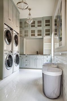 To be rich enough to have this laundry room with two washers and dryers yikes!