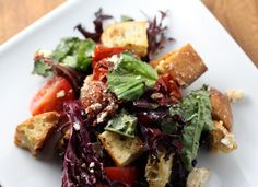 Roasted Tomato Salad with Croutons  Dana Treat Original