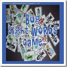 {FREE} Printable - Bug Sight Words Game (K-2nd grade)