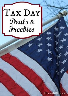 Tax Day Deals & Freebies 2015! The list is short, but I'll keep adding to it as I learn of more great deals for Tax Day 2015!