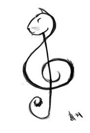 Image result for cat treble clef tattoo