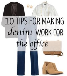 How to wear denim at the office | 40plusstyle.com