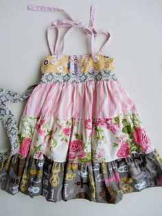 Matilda Jane Platinum Chateau Ellie Tiered Dress Size 4 Easter | eBay