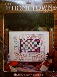 Quilting Bee/Hometown Collection/Design for the Needle/ Size 8-by 10 Inches/ Embroidery Kit / by BluetreeSewingStudio on Etsy