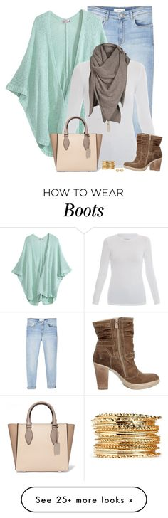 """""""Low Ankle Boots"""" by amwmik on Polyvore featuring MANGO, Calypso St. Barth, Majestic, Nero Giardini, Michael Kors and Carolee"""