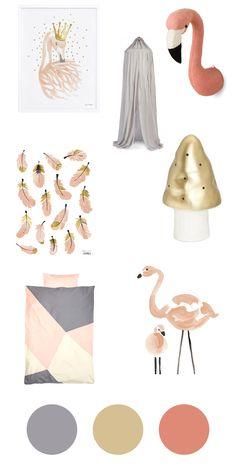 Accessoires fürs Kinderzimmer – Flamingos für kleine Mädchen – sanvie|mini