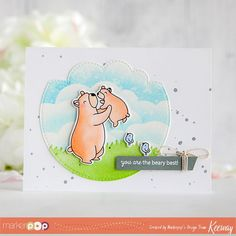 kiwi koncepts - Mama Elephant Cub Cuddles card by Keeway Mama Elephant Stamps, Fathers Day Cards, Cute Diys, Card Making Inspiration, Lawn Fawn, Baby Cards, Cute Cards, Paper Crafts, Diy Crafts