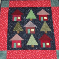 Quilted Wall Hanging 27x27 inches Winter by entirelyhomemade, $50.00