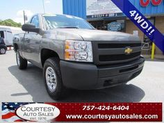 2012 CHEVROLET SILVERADO 1500 -- VERY Well MAINTAINED ONLY 50,201 MILES! -- 4WD! -- Price INCLUDES A 3 MONTH/3,000 Mile WARRANTY! -- CALL TODAY! * 757-424-6404 * FINANCING AVAILABLE! -- Courtesy Auto Sales SPECIALIZES In Providing You With The BEST PRICE On A USED CAR, TRUCK or SUV! -- Get APPROVED TODAY @ courtesyautosales.com * Proudly Serving Your USED CAR NEEDS In Chesapeake, Virginia Beach, Norfolk, Portsmouth, Suffolk, Hampton Roads, Richmond, And ALL Of Virginia SINCE 1976!
