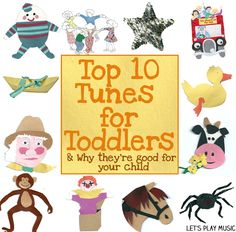 Top Ten Toddler Tunes - 10 Of The Best Nursery Rhymes For Young Children - Fantastic for developing language skills and communication