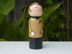 Capt Space Traveler Whittle Peg Doll by WinkysWhittles on Etsy, $18.00
