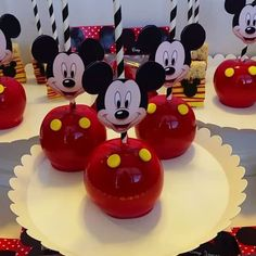 Mickey Mouse Party Treats - Happy Birthday Baby Jayceon!  #firstbirthday #mickeymouse #mickeymouseparty #candyapples #partyideas #pearland #houston #pearlandsweettooth #thanks4yoursupport Check out our Facebook Page for more pics! Mickey Mouse Treats, Mickey Mouse Birthday Decorations, Mickey Mouse Theme Party, Minnie Y Mickey Mouse, Mickey 1st Birthdays, Fiesta Mickey Mouse, Mickey Mouse First Birthday, Mickey Mouse Baby Shower, Mickey Mouse Clubhouse Birthday Party