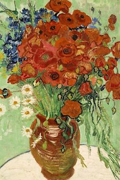 View Nature morte, vase aux marguerites et coquelicots by Vincent van Gogh on artnet. Browse upcoming and past auction lots by Vincent van Gogh. Vincent Van Gogh, Canvas Art Prints, Painting Prints, Canvas Wall Art, Framed Canvas, Framed Wall, Canvas Canvas, Canvas Paintings, Artwork Wall