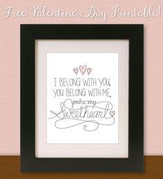 KV's Confessions: Freebie Valentine's Printable ❤