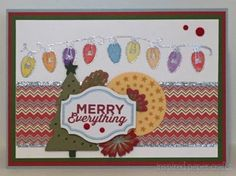 Merry Everything - Christmas Card www.inspiredpapercrafts.com
