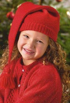 Strik rigtige, lune nissehuer til de små, så de kan sprede glad julestemning i vintermørket