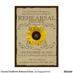 Country Sunflower Rehearsal Dinner