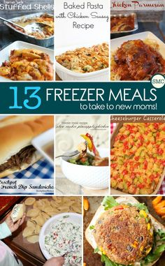 My friend is due to have a baby very soon so these freezer meals for new moms will be the perfect way for me to help her out. Click on the image to see the recipes!