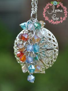 Aromatherapy Essential Oil Diffuser Necklace - Falling Beads on Etsy, $21.00