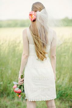 short wedding dress ideas #bohochic http://www.weddingchicks.com/2013/11/19/boho-chic-bridal-looks/