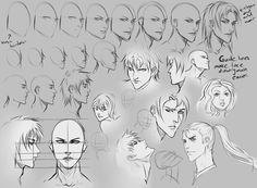 Face Angles by *moni158 on deviantART