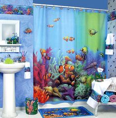 Bon 13 Bright And Colorful Kidsu0027 Bathroom Decor Ideas   Finding Nemo Theme Kids  Room :