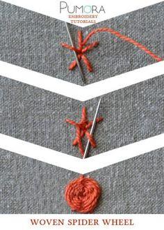 woven spider wheel tutorial