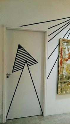 Tape art por Marina Rodrigues para Urban Arts Campinas | Geometric | #tapeart #marinarodrigues #decoracao