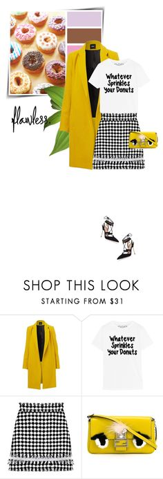 """""""Sweet Girls!!!"""" by sophiek82 ❤ liked on Polyvore featuring MSGM, Fendi, Kurt Geiger, Clutch, fendi and spring2016"""