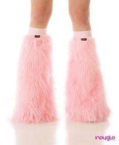 fuzzy pink leg warmers - speechless