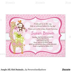 60% Off all Baby Shower Invitations Use code: PREP4HOLIDAY at checkout Jungle Jill /Girl Animals  20% off everything else!