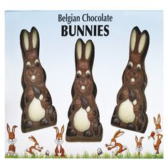 Milk Chocolate Bunnies £4.99 FREE UK Delivery.  http://www.ragstorichesuk.com/gifts/confectionery/milk-chocolate-bunnies-detail
