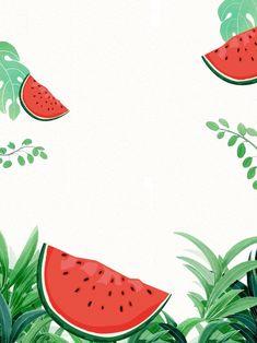 Watermelon Background, Watermelon Wallpaper, Artsy Background, Theme Background, Wallpaper Iphone Cute, Cute Wallpapers, Un Diner Presque Parfait, Watermelon Illustration, Sketches Of Love