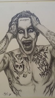 Jared Leto - The Joker - Graphite