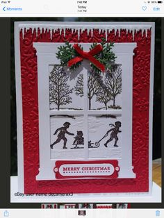 Stampin Up Card Kit Holiday Tree Christmas Lodge Handmade window season Homemade Christmas Cards, Christmas Cards To Make, Christmas Greetings, Kids Christmas, Homemade Cards, Handmade Christmas, Holiday Cards, Christmas Crafts, Christmas Music
