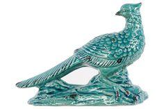 Ceramic Bird Turquoise