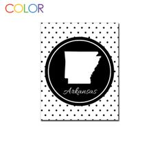 Arkansas Black Polka Dot Printable Art Wall by ColorPrintables, $5.00