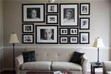 photo arrangements on wall - Bing Images