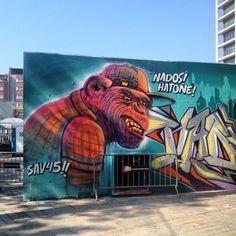 "Street art | Mural ""Nados ! Hatone !"" by SAV45"