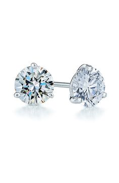 diamond & platinum stud earrings