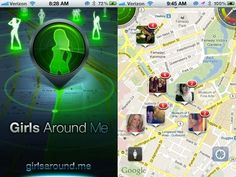 """Please take note of your privacy settings...""""These are all girls with publicly visible Facebook profiles who have checked into these locations recently using Foursquare. 'Girls Around Me' then shows you a map where all the girls in your area trackable by Foursquare area."""""""