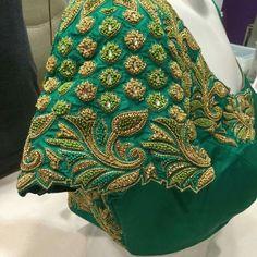 No photo description available. Cutwork Blouse Designs, Wedding Saree Blouse Designs, Pattu Saree Blouse Designs, Simple Blouse Designs, Stylish Blouse Design, Blouse Neck Designs, Sleeve Designs, Mirror Work Blouse Design, Designer Blouse Patterns