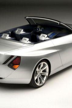 ♂ Silver car Lexus LF C rear up angle
