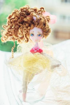 Handmade dolls Cute Fairy Gift for daughter cute gift montessori collectible handmade