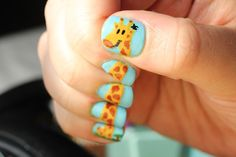 Polish All the Nails: GIRAFFE!!