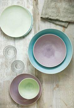 Beautiful Kinto Japanese pastel tableware.
