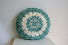 Crochet Round Pillow. Inspiration only.