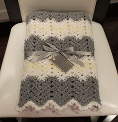 Crochet Chevron Baby Blanket Unisex Baby Boy Blanket Baby Girl Blanket Gray White Beige Pale Yellow Grey Shower Gift New Baby Gift on Etsy